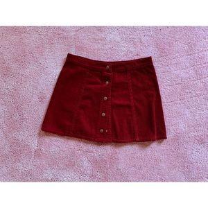 FOREVER 21 Red Velvet Miniskirt